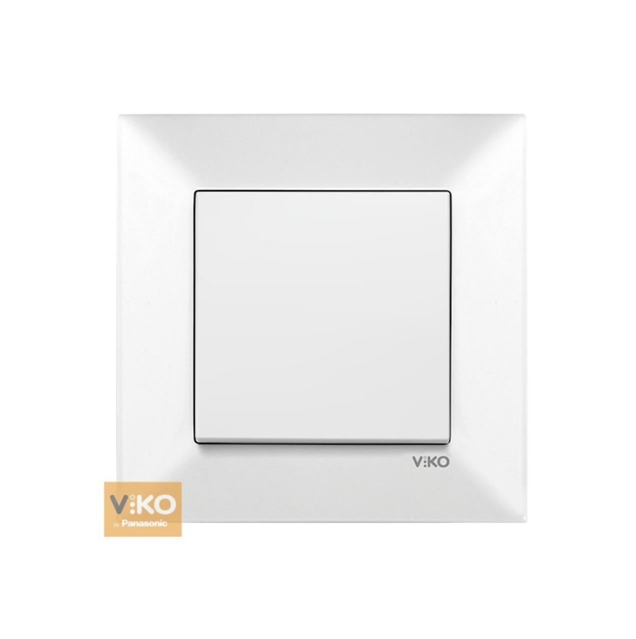 Выключатель одноклавишный VIKO Meridian - Белый