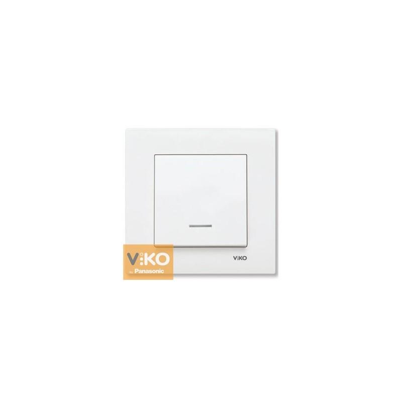 Выключатель одноклавишный с подсветкой VIKO Karre - Белый