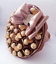 Большой Букет из конфет Благородный сладкий конфетный подарок мужчине / шефу / начальнику. Мужской букет