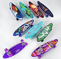 Скейт Пенні борд 40310 Best Board, 6 кольорів, дошка 59 см, колеса PU d 6 см
