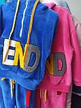 Утепленный детский спортивный костюм для девочки, фото 3