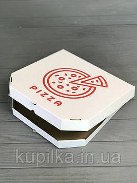 Коробка для пиццы с рисунком Pizza 250х250х30 мм (Красная печать)