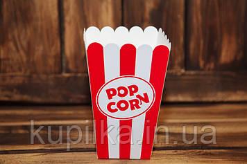 Коробочка для попкорна 1л. (красно-белая)
