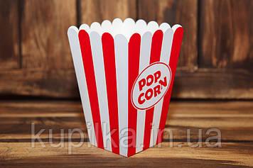 Коробочка для попкорна 1.5 л.(красно-белая)