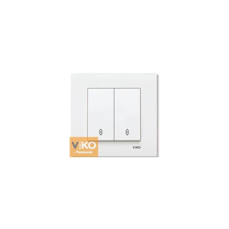 Выключатель проходной двухклавишный VIKO Karre - Белый
