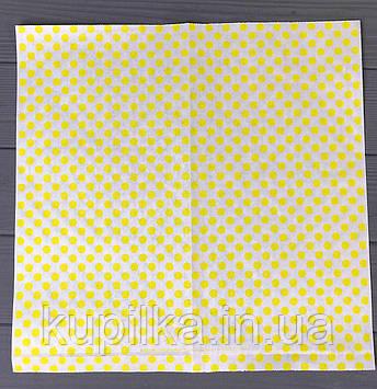 """Бумага оберточная """"Желтый горох"""" 320х320 мм  888Ф"""