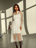 Шикарное платье двойка с сеткой