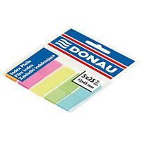 Стикеры-закладки пластиковые Donau 45х12мм, 5цв.х25арк., неон 7577001PL