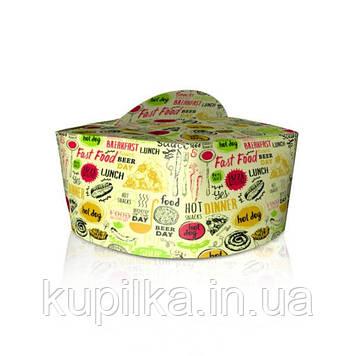 Коробка для лапши и салатов 1,2л. Светлая