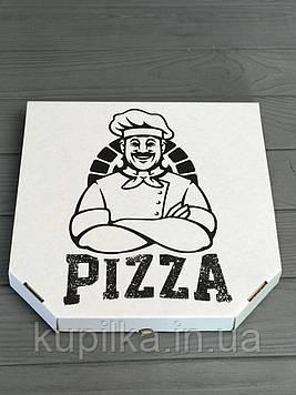 Коробка для пиццы c рисунком Cook 400Х400Х40  мм (Чёрная печать)