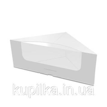 Картонная упаковка для сендвичей белая