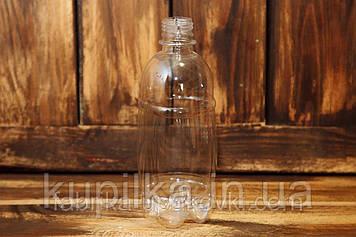 Бутылка ПЭТ бочонок 0.5 л. (прозрачный)