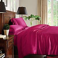 Полуторный постельный комплект, цвет: розовый