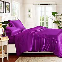Полуторный постельный комплект, цвет: фиолетовый