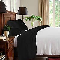 Полуторный постельный комплект, цвет: белый, черный