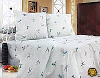 Полуторный постельный комплект Б0316 , цвет: белый, голубой