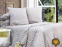 Полуторный постельный комплект Б0319 , цвет: серый, красный