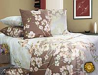Полуторный постельный комплект Б0333 , цвет: коричневый, белый