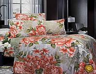 Полуторный постельный комплект Б0338 , цвет: серый, зеленый, красный