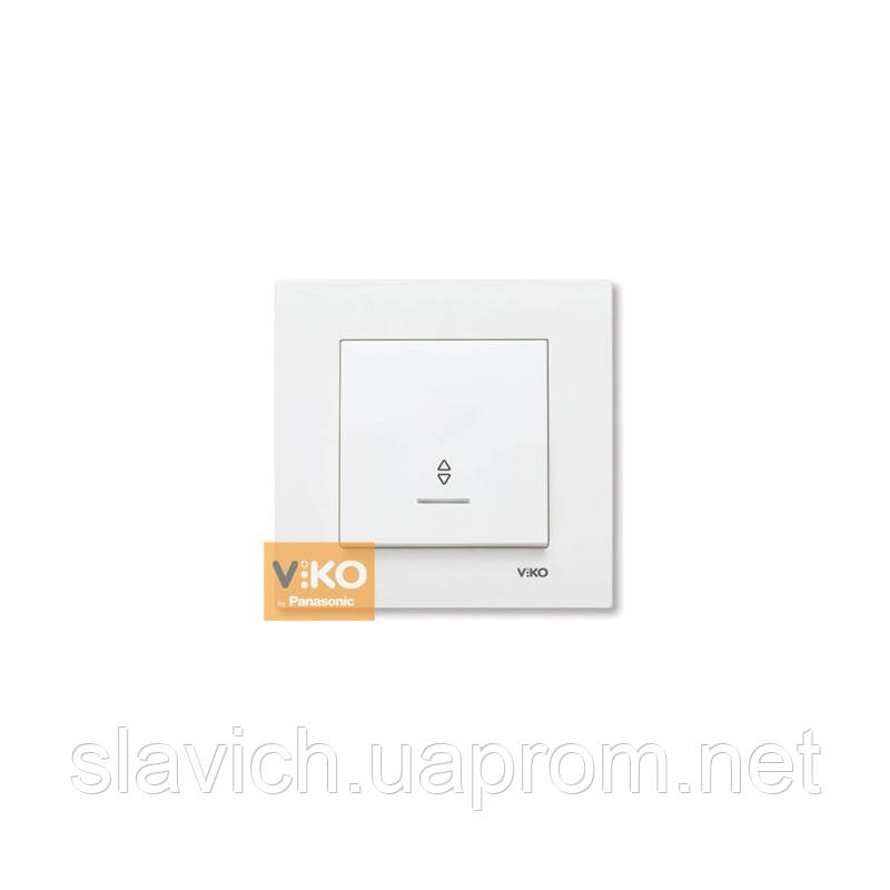 Вимикач прохідний з підсвіткою VIKO Karre - Білий