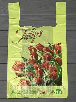 """Пакет """"Майка"""" с надписью Tulips"""