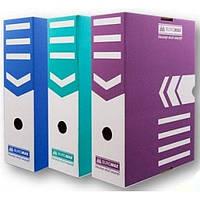 Короб архивный картон 15 см Buromax 3262_Синий