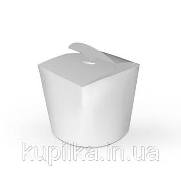 Коробка для лапши и салатов 600 мл. Белая