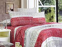 Семейный постельный комплект, цвет: красный