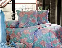 Семейный постельный комплект, цвет: голубой