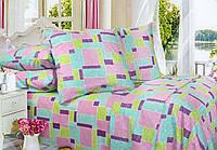 Семейный постельный комплект, цвет: розовый