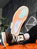 "Кроссовки Nike Air Jordan 4 Mid OFF WHITE ""BROWN"", фото 4"