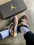 "Кроссовки Nike Air Jordan 4 Mid OFF WHITE ""BROWN"", фото 7"