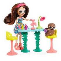 Набор игровой Энчантималс Салон красоты кукла ленивец Сэла Ленни GFN54 Enchantimals Slow-Down Salon & Sela Slo