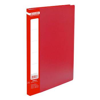 Папка с 20 файлами А4 Buromax BM.3605_Красный