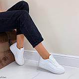 Женские кроссовки белые эко-кожа Весна / лето/ осень, фото 4