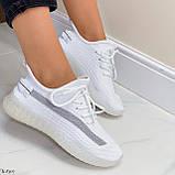 Стильні жіночі кросівки білі текстиль, фото 5