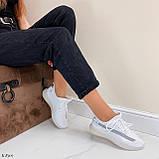 Стильні жіночі кросівки білі текстиль, фото 8