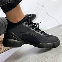 Женские кроссовки демисезонные чёрные, ХИТ 20221, 36-40 размеры