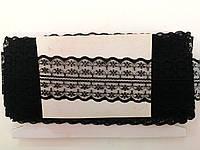 Кружево капроновое,цвет черный (33м в рулоне,ширина 4см)