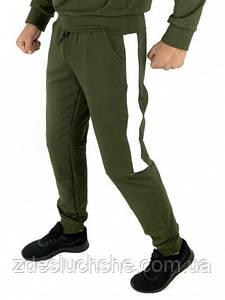Мужские спортивные штаны хаки-белый Spirited SKL59-259601