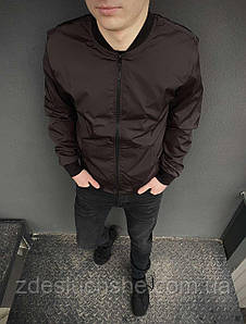 Бомбер коричневий чоловічий весняний SKL59-259532