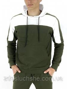 Чоловіче худі хакі білий Spirited SKL59-259603