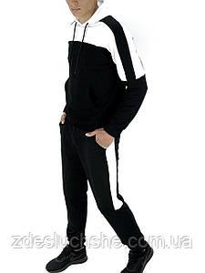 Мужской спортивный костюм черный-белый SKL59-259561
