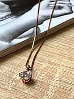 Кристалл Кулон с цепочкой, подвеска на шею женская