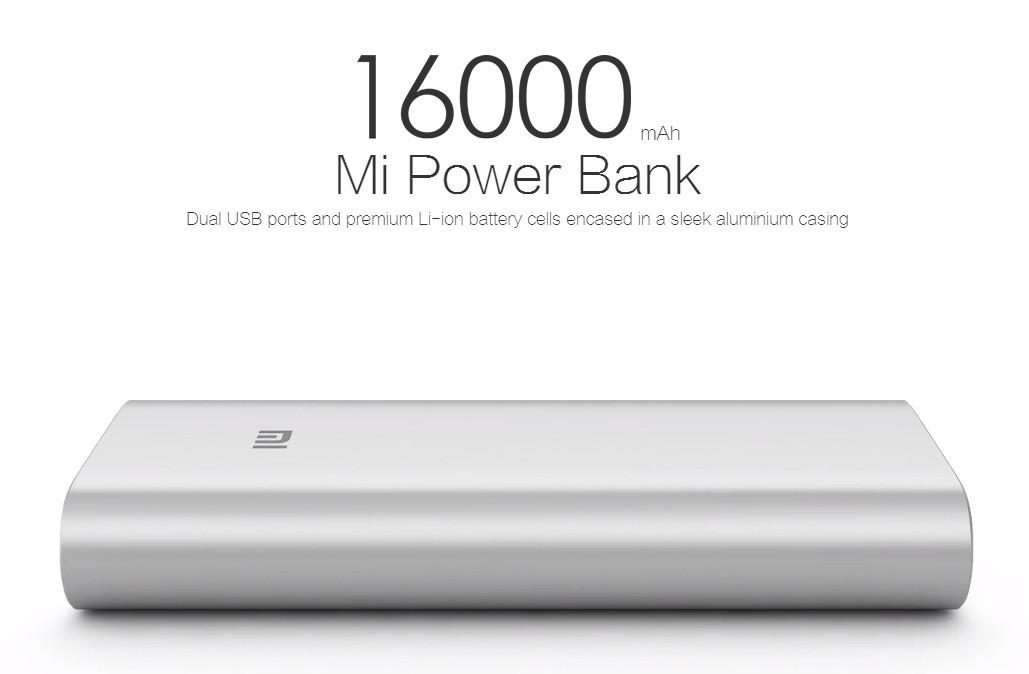 Оригинал портативный аккумулятор Power Bank Xiaomi 16000mAh
