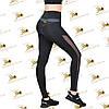 Женские спортивные лосины с темно-серыми вставками, фото 3