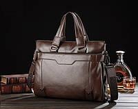 Мужской кожаный деловой стильный портфель мужская сумка для документов