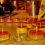 Набор для изготовления чайной свечи с содержанием воска 24г (контейнер чайной свечи, фиксатор фитиля, фитиль), фото 4