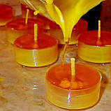 Набор для изготовления чайной свечи с содержанием воска 24г (контейнер чайной свечи, фиксатор фитиля, фитиль), фото 5