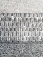 Обои виниловые на флизелине Grandeco Gravity полосы плетенка серые  серебристые, фото 1